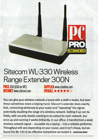 WL-330 - Give your wireless network a boost with a draft-n router - PC Pro - (UK)