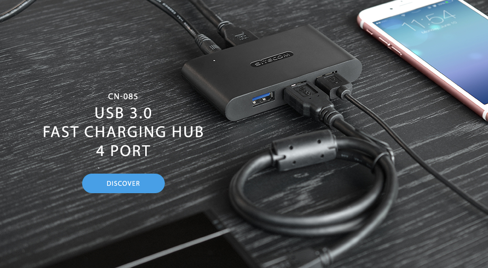 USB 3.0 Fast Charging Hub 4 Port